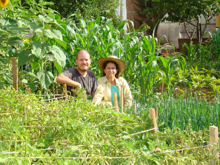 Agustin and Marisol, Intermediate GROW BIOINTENSIVE teachers